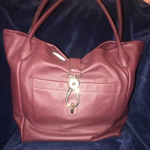 NEW Dooney & Bourke Belvedere Logo lock tote purse